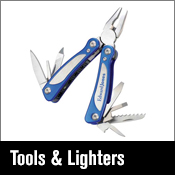 stationery tools, tool kits, lighter and multitools