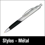 Articles promotionnels stylos en métal
