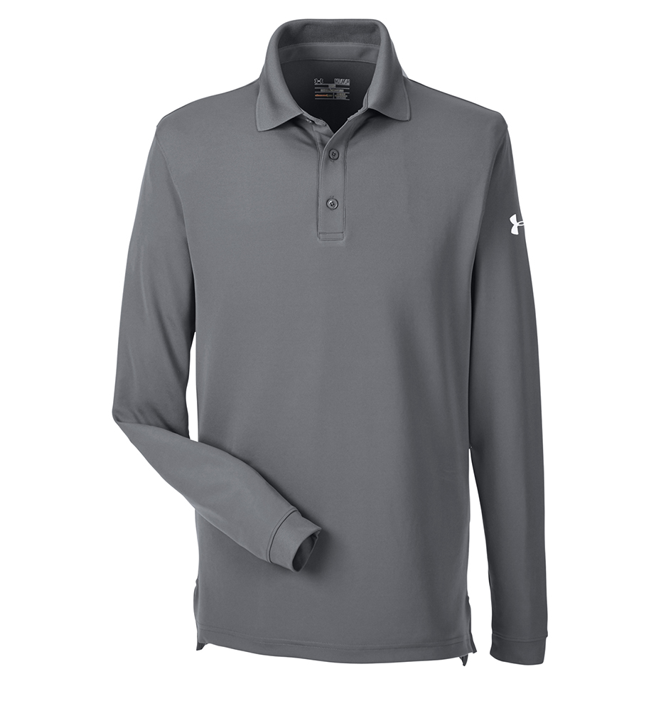 1283708 Men S Performance Long Sleeve Polo Under Armour